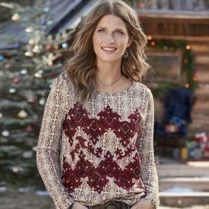 Sundance Neva Tapestry beaded Top